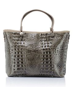 Another great find on #zulily! Fango Croc-Embossed Rectangle Leather Tote #zulilyfinds