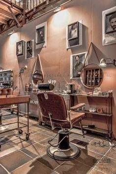 fabulous old barber shop