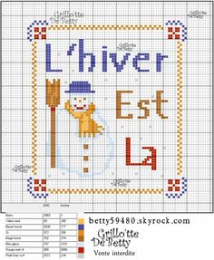 noël - christmas - hiver - point de croix - cross stitch - Blog : http://broderiemimie44.canalblog.com/