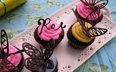 ideias com chocolate | ... de chocolate para decorar bolos e cupcakes sempre que você desejar