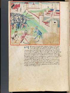 Bern, Burgerbibliothek, Mss.h.h.I.1, f. 242 – Diebold Schilling, Amtliche Berner Chronik, vol. 1