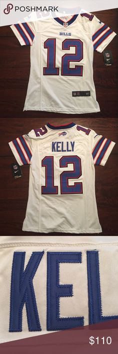 Wom's Buffalo Bills Jim Kelly Nike limited jersey New w/ tags - Women's Buffalo Bills - Jim Kelly Nike White retired players Jersey Limited Edition Tops Tees - Short Sleeve