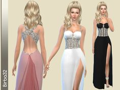 Elegant and sexy dress for special events. In seven coluors.  Found in TSR Category 'Sims 4 Female Formal'