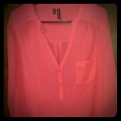 Maurice's  size 2 light top Light 3/4 length sleeves top.  Pink. Maurices Tops