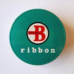 Vintage Typewriter Ribbon Tin
