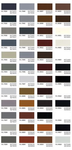 the 25 best ral color chart ideas on ral Grey Colour Chart, Ral Color Chart, Gray Color, Grey Windows, House Windows, House Color Schemes, House Colors, Ral Colours Grey, Color Palettes