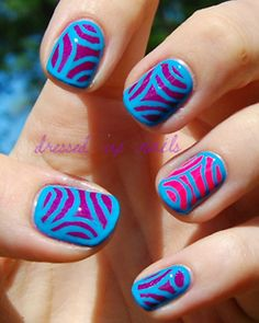 with strips of tape/string :) i could NEVER do this :( i do not have the patience but i like it
