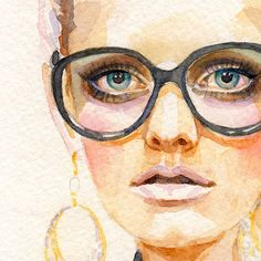 Art: Watercolor on Tissue Paper - artist unknown Watercolor Portraits, Watercolor Art, Driftwood Wall Art, Illustration Sketches, Fashion Illustrations, Art For Art Sake, Face Art, Painting Inspiration, Art Drawings