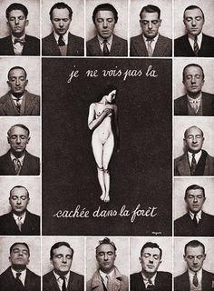 Parisian Surrealists including Tristan Tzara, Paul Eluard, Andre Breton, Luis Bunuel, Rene Magritte, Hans Arp, Salvador Dali, Yves Tanguy, Max Ernst, Rene Crevel, and Man Ray.