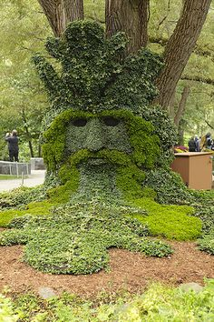 """Spirits of the Forrest - The Green Man"" -  #Canada #horticulture"