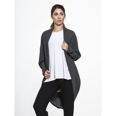 LNA Oversized Cocoon Wrap (10,080 INR) ❤ liked on Polyvore featuring lna and white slip