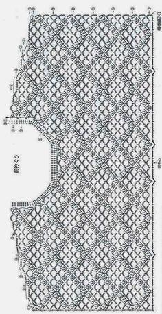 diagrammes débardeur au crochat japonais
