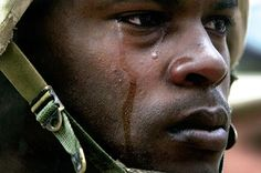 A soldier's tears