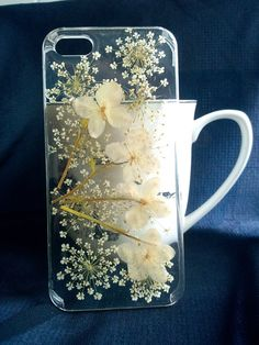 Pressed flowers iphone 5 case iphone 5s case clear by Flowercover, $12.99