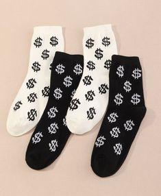 'Money Mama' Crew Socks – Pretty Feet Trinkets Bootie Socks, Sock Ankle Boots, Crew Socks, Socks Men, Tube Socks, Cute Boots, Designer Socks, Fashion Socks, Comfortable Fashion