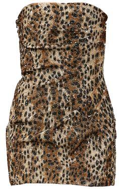 Saint Laurent Leopard Bandeau Dress