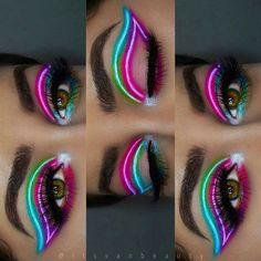 crazy eye makeup ~ crazy eye makeup + crazy eye makeup creative + crazy eye makeup bright colors + crazy eye makeup looks + crazy eye makeup videos + crazy eye makeup easy + crazy eye makeup art + crazy eye makeup tutorial Makeup Eye Looks, Beautiful Eye Makeup, Eye Makeup Art, Eyeshadow Makeup, Eyeliner, Glam Makeup, Makeup Kit, Eyeshadow Palette, Makeup Wings