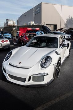 """topvehicles: """"This week's sighting at Cars and Coffee. Luxury Sports Cars, New Sports Cars, Exotic Sports Cars, Exotic Cars, Porsche Autos, Porsche Cars, Porsche Gt3, Automobile, Ferdinand Porsche"""