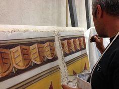 Finishing first layer of intonaco, by ilia Fresco,