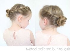 twisted ballerina bun tutorial! can work with long and some short hair- I was able to do it and I have hair that hangs a bit over my shoulders