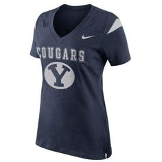 217535c5f159c  34.95 Nike Brigham Young Cougars Ladies Fan Top V-Neck T-Shirt - Navy