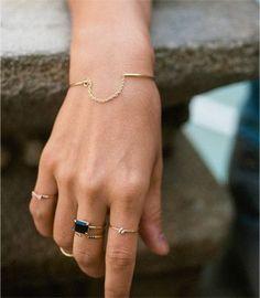 little rings + bracelet.