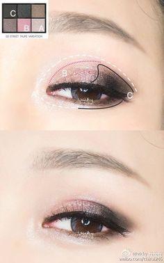 makeup eyeshadow #koreanmakeup #shimmer #eyemakeup