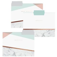 Spruce up your office decor with the Copper Marble File Folder Setperfect for paperwork, receipts, or world domination plans. Including 9 folders in 3 differen