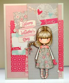 2/1/2014; Amy at 'A thousand sheets of paper' blog;  Happy Valentine's day Gorjuss girl