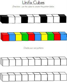 Unifix Cube Patterns...nice addition to your centers if you don't have any...simply print and laminate!  You have to scroll down a little to find it :-)