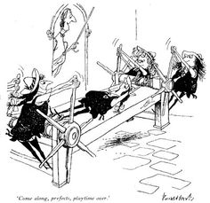 another great ronald Searle illustration from one of the many St. Trinians stories