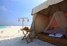 Luxury beach glamping