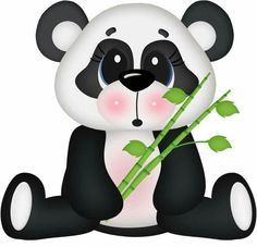 Surprised Panda Bear by - Minus Cute Images, Cute Pictures, Animals Images, Cute Animals, Cute Clipart, Jungle Clipart, Tatty Teddy, Punch Art, Panda Bear