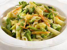 penne & vegetable salad.