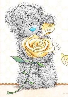 Tatty Teddy love you love you lots Tatty Teddy, Teddy Bear Pictures, Bear Images, Cute Images, Cute Pictures, Valentines Day Images Free, Urso Bear, Watercolor Card, To Do Planner