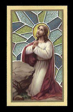 """santino-holy card""""""""ediz. FB serie MILANO n.7 GESU' AL GETSEMANI"""