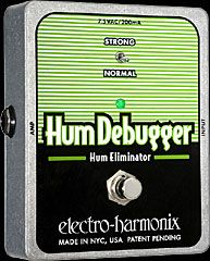 EHX Hum Debugger is a magic pedal that removes the 60 Cycle Hum off your single coils. Legend says that it modifies your tone, but the difference is not really noticeable on my setup.