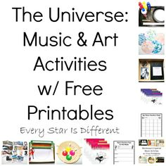 Every Star Is Different: The Universe: Music & Art Activities w/ Free Printables (Learn & Play Link Up)