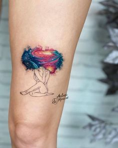 32 Charming Watercolor Tattoo Designs for Tattoo Lovers Tattoos And Body Art design my own tattoo Mini Tattoos, Leg Tattoos, Body Art Tattoos, Small Tattoos, Sleeve Tattoos, Cool Tattoos, Tatoos, Small Colorful Tattoos, Woman Tattoos
