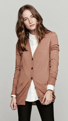 wool cashmere cardigan.