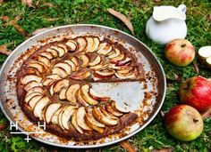 Gluten-free Apple Tart - the perfect autumn pud Gluten Free Pastry, Gluten Free Baking, Gluten Free Recipes, Healthy Cooking, Healthy Eating, Healthy Food, Healthy Recipes, Keto Recipes, Hemsley And Hemsley