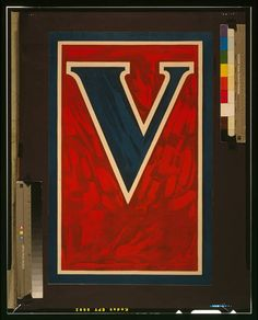 V for Victory WWI poster