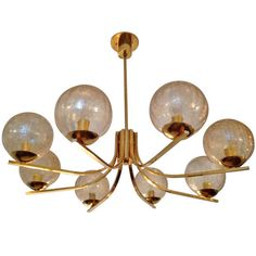 """German """"High Style"""" 70s Chandelier 