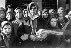 size: Photographic Print: Russian Woman Grimly Holding a Slab of Meat as Other Peasant Women Staunchly Stand by in Siberia by Margaret Bourke-White : Women In Russia, Margaret Bourke White, 1940s Woman, White Image, Life Magazine, Magazine Photos, Female Poses, Photos Of Women, Soviet Union