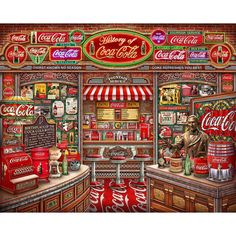 Coca Cola History 1000 Piece Jigsaw Puzzle Official Store of Springbok Jigsaw Puzzles - Coca Cola - Idea of Coca Cola Coca Cola Drink, Cola Drinks, Pepsi, Coca Cola Cooler, Coca Cola Ad, Coca Cola Wallpaper, Coca Cola History, Always Coca Cola, Retro Diner