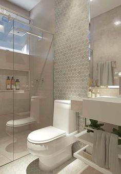 Banheiro pequeno decorado e bonito Home Room Design, Decor Interior Design, Interior Decorating, Bathroom Design Luxury, Bathroom Design Small, Small Spa Bathroom, Warm Bathroom, Spa Inspired Bathroom, Toilet Design