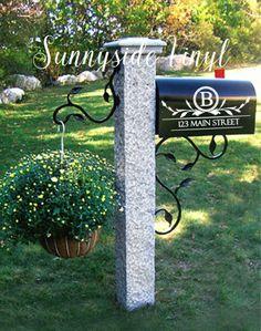 Set of 2 mailbox decals address decals by SunnysideVinyl on Etsy