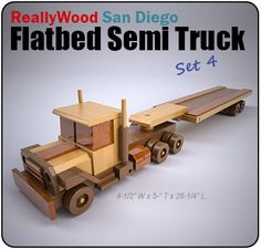 ReallyWood San Diego Flatbed Semi Truck Wood Toy Plan Set