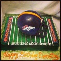 Denver Broncos Helmet Cake Denver Broncos Helmet, Denver Broncos Womens, Broncos Gear, Go Broncos, Broncos Fans, Hubby Birthday, 12th Birthday, Birthday Ideas, Teacher Cakes