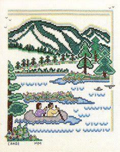 Canoe Counted Cross Stitch Pattern by Meredith Mark Designs, http://www.amazon.com/dp/B003YWSQU2/ref=cm_sw_r_pi_dp_gBXrsb16213RS